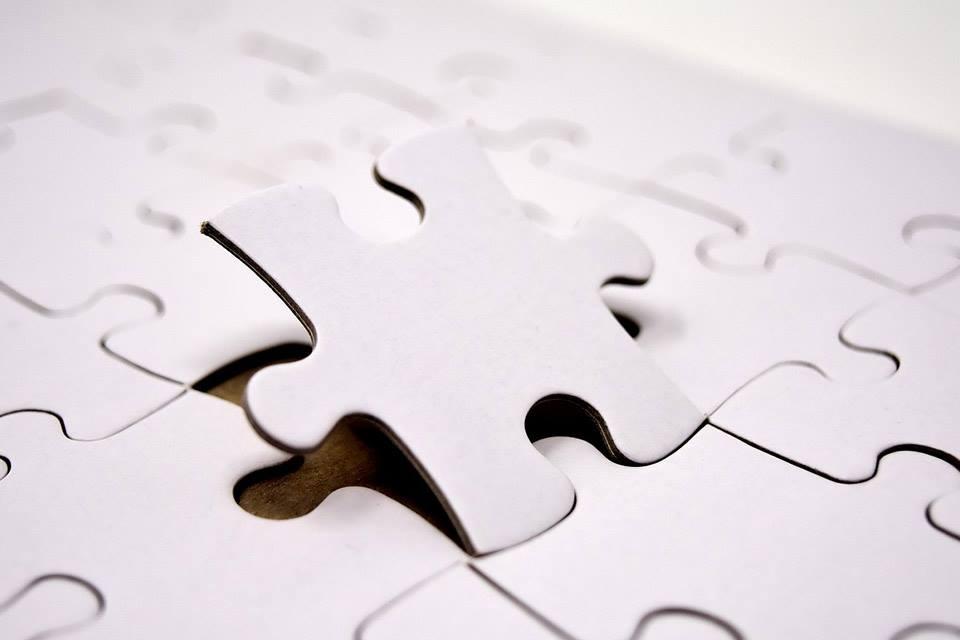 Immagine puzzle grigio
