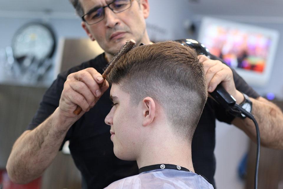 Taglio capelli sfumato bambino